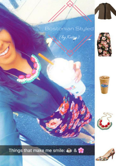 Color-Blocked and Floral Print Spring Work Look