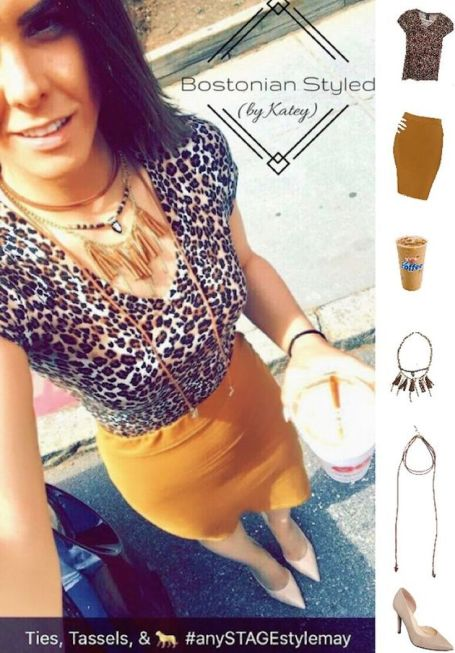 Leopard Print Look With Tassel Statement Necklace & Choker