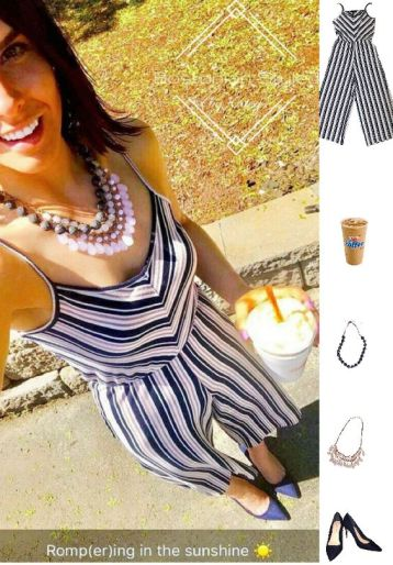 Striped Jumpsuit Look for Summer