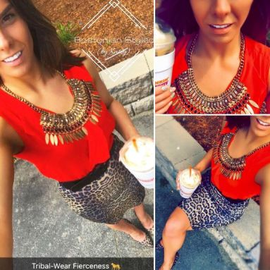 Leopard Print Pencil Skirt and Heels Outfit Idea