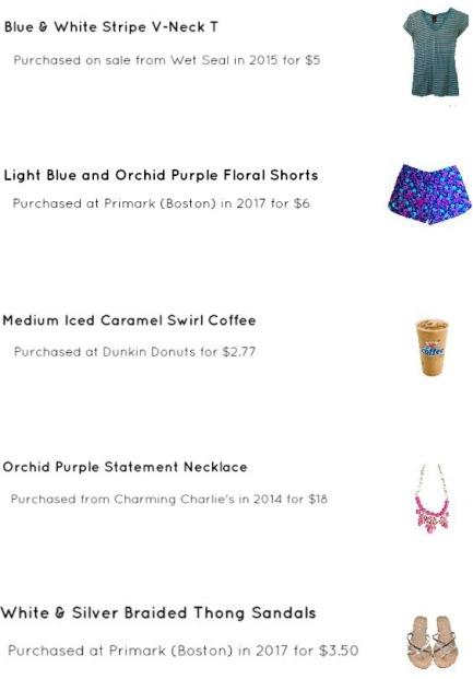 Floral Print Shorts Outfit Idea
