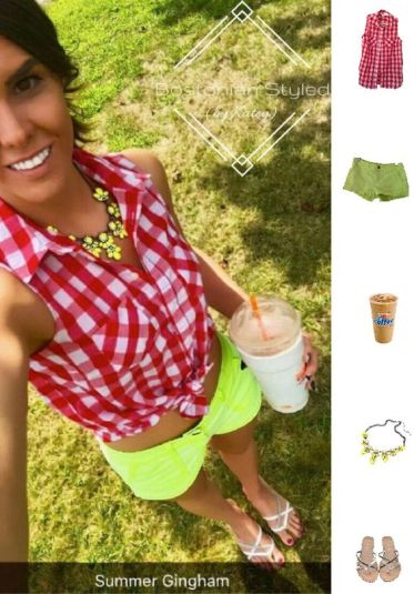 Neon Shorts Outfit Idea